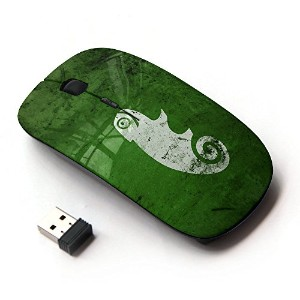 KOOLmouse [ ワイヤレスマウス 2.4Ghz無線光学式マウス ] [ cool funny cute green nature chameleon ]