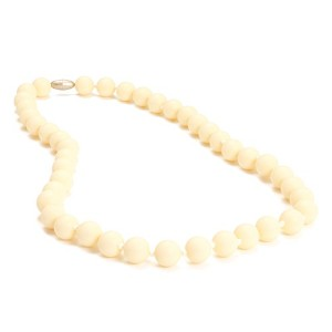 Chewbeads Jane Teething Necklace, 100% Safe Silicone - Ivory by Chewbeads