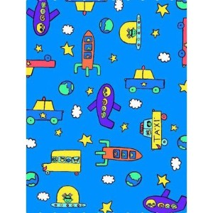 SheetWorld Fitted Pack N Play (Graco Square Playard) Sheet - Kiddie Transport - Made In USA by...