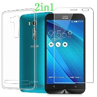 2 in 1 Asus Zenfone Go ZB551KL ケース + 強化ガラス、360度の保護【MYLB】Asus Zenfone Go ZB551KL 極薄TPU カバー + Asus...