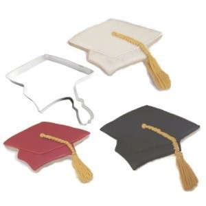 1 X Graduation Cap Metal Cookie Cutter by Unknown