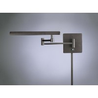 George Kovacs P266-1-615B, Madake, 1 Light Swing Arm Wall Lamp, Dorian Bronze by Kovacs