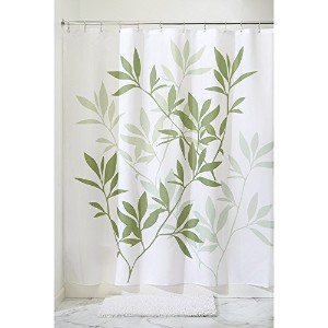 InterDesign Leaves X-Long Shower Curtain, Green, 72-Inch by 96-Inch by InterDesign [並行輸入品]