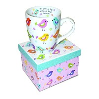 Divinity Boutique Inspirational Ceramic Mug with Birds - Psalm 103:5, He Fills My Life With Good...