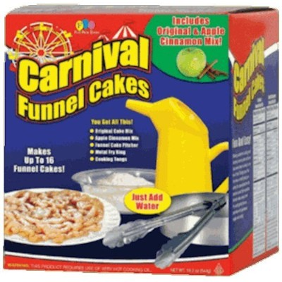 (Set) Carnival Deluxe Funnel Cakes Kit with Funnel Cakes Refill Mix by Carnival
