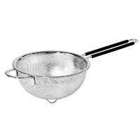 Oggi 5627.0 Perforated 6.5-inch Stainless Steel Colander with Soft-Grip Handles by Oggi