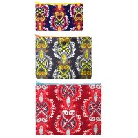 LOQI Opulent Zip Pockets (Set of 3), Multicolor by LOQI