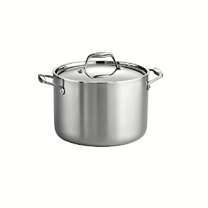 Tramontina 80116/041DS Gourmet 18/10 Stainless Steel Induction-Ready Tri-Ply Clad Covered Stock Pot...