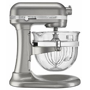 KitchenAid Professional 6500 - 6 Qt Glass Bowl Stand Mixer - KSM6521XSR - Sugar Pearl Silver 並行輸入