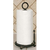 Provincial Paper Towel Holder in Black by Colonial Tin Works