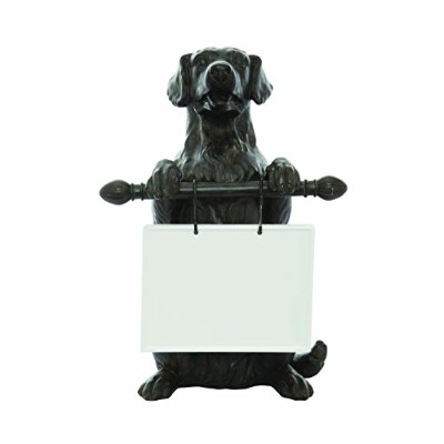 Creative Co-Op Resin Dog with Ceramic Message Board, Multicolor by Creative Co-op