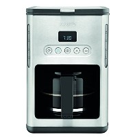 KRUPS KM442D Control Line Programmable Coffee Maker Machine with Stainless Steel Finish, 10-Cup,...