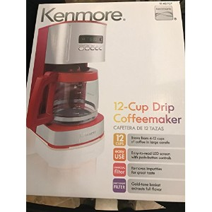 Kenmore Red 12 Cup Programmable Coffee Maker by Kenmore