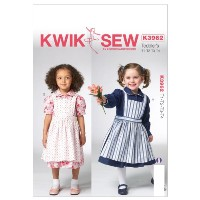 Kwik Sew Patterns K3962 Toddlers Dress and Pinafore Sewing Template, All Sizes by KWIK-SEW PATTERNS