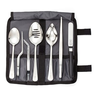 Mercer Culinary M35149 Professional Chef Plating Kit, 8 Piece, Stainless Steel, Black by Mercer...