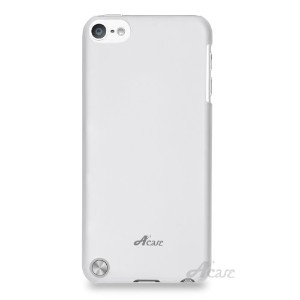 Acase iPod touch 5 ケース slim shell ハード カバー for iPod touch 5th 第5世代 スモークホワイト ( 液晶保護 フィルム 付 )