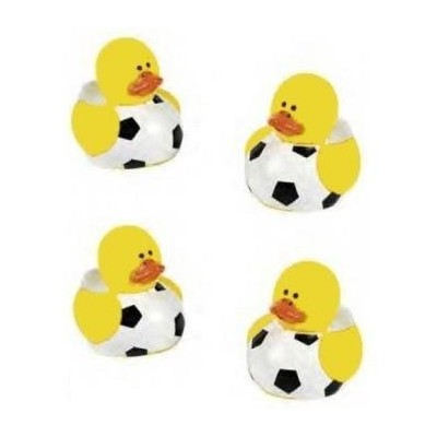 Lot Of 24 Mini Soccer Ball Rubber Ducks - Party Favors by FX