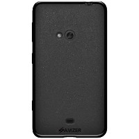 Amzer Pudding Soft Gel TPU Skin Fit Case Cover for Nokia Lumia 625 - Retail Packaging - Black by...