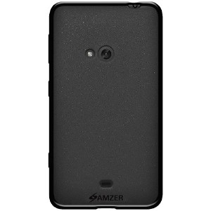 Amzer Pudding Soft Gel TPU Skin Fit Case Cover for Nokia Lumia 625 - Retail Packaging - Black by Amzer