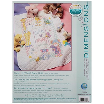 """Baby Hugs Cute...Or What? Quilt Stamped Cross Stitch Kit-34""""X43"""" (並行輸入品)"""