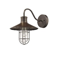 Chloe Lighting CH857043RB11-WS1 Industrial Industrial-Style 1 Light Rubbed Bronze Wall Sconce 11...