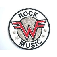 WEEZER Logo Embroidered Iron On Rock Music PatchApprox: 2.9/7.5cm x Approx: 2.9/7.5cm By MNC Shop...