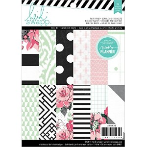 Heidi Swapp Hello Beautiful Patterned Paper Pad for Black and White Planner, 6 by 8-Inch by Heidi...
