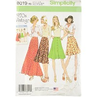 Simplicity Creative Patterns Misses' Vintage 1970's Skirts, Size: H5 (6-8-10-12-14) by Simplicity...