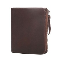 Zhhlinyuan 多機能性 Mens Luxury Wallet Money Organizer with Zipper Pocket Photo Window Short Design