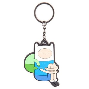 Adventure Time Keychain キーホルダー Sitting Finn 新しい 公式 Rubber
