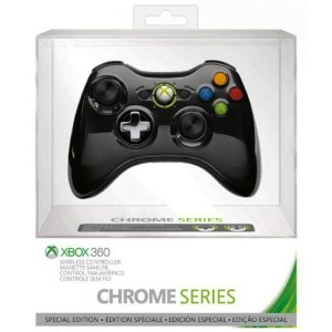 Official Xbox 360 Wireless Controller Chrome Black (360) (輸入版)