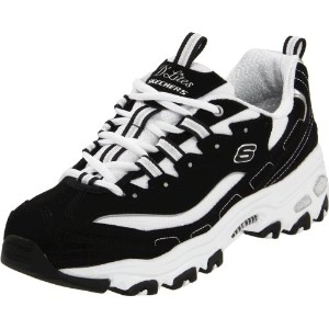 Skechers D'Lites Extreme Womens, Black/White, 37 EUR