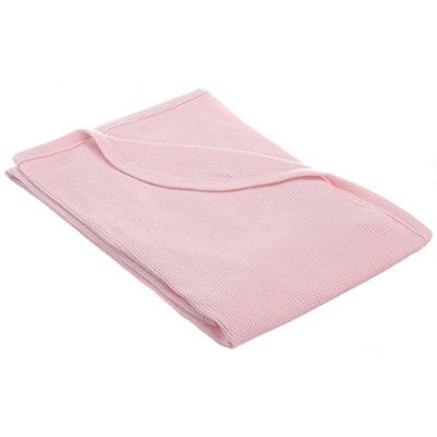 American Baby Company Full Size 30 X 40 - 100% Cotton Swaddle/Thermal Blanket, Pink by American...
