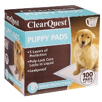 ClearQuest Puppy Pads, 100-Count Boxes, Hold 2.5 Cups, Scented to Attract Puppies by ClearQuest