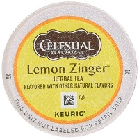 Celestial Seasonings Lemon Zinger Herbal Tea, K-Cup Portion Pack for Keurig K-Cup Brewers, 24-Count...