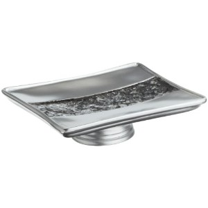 Popular Bath Sinatra Silver Soap Dish by Popular Bath