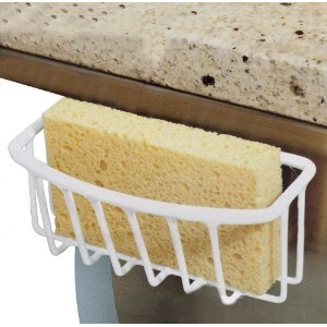Kitchen Details In-the-sink Sponge Holder with Suction Cup White - 5.5x2.6x2.4 by Kitchen Details