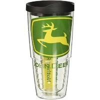 Tervis John DeereロゴColossalラップTumbler withブラック蓋、24-ounce