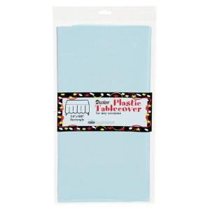 Bulk Buy: Darice DIY Crafts Plastic Table Cover Rectangle Pastel Blue 54 x 108 inches (12-Pack)...