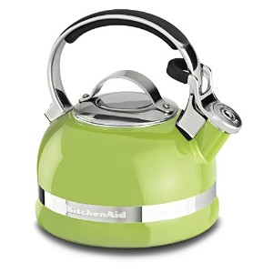 KitchenAid KTEN20SBKL 2.0-Quart Kettle with Full Stainless Steel Handle and Trim Band - Sunkissed...