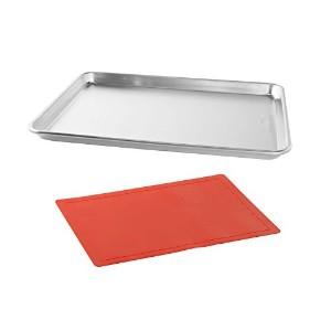 Nordic Ware Natural Aluminum Commercial Baker's Half Sheet and Nonstick 12- by 17-Inch Silicone...