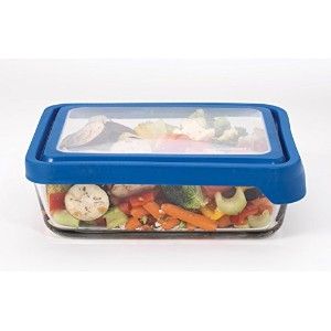 Anchor Hocking 11 Cup Rectangular Food Storage Container, Blueberry by Anchor Hocking