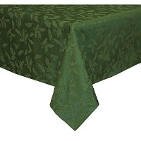 Lenox Holly Damask Tablecloth, 52 by 70-Inch, Green by Lenox