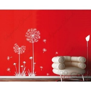PopDecals - Dandelion - 39 in High - nursery wall decals tree vinyl wall art wall decor sticker...