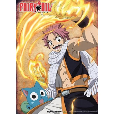 GREAT EASTERN Entertainment Fairy Tail Natsu and Happyウォールスクロール、33x 111.76X