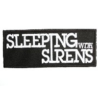 SLEEPING WITH SIRENS Iron On Sew On Embroidered Post Hardcore Band PatchApprox: 3.5/8.8cm x Approx:...