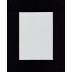 High Quality BLACK Picture Mats with White Core Bevel Cut for 11x14 Pictures