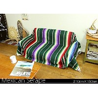 RUG&PIECE Mexican Serape made in mexcico ネイティブ メキシカン サラペ メキシコ製 210cm×150cm (rug-5466)