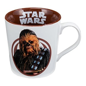 Vandor 99163 Star Wars Chewbacca 12 Ounce Ceramic Mug, White/Brown by Vandor