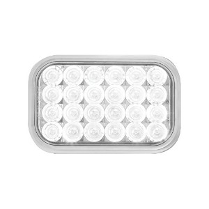 Grand General 77184 White Rectangular Pearl 24-LED Back-Up Sealed Light [並行輸入品]